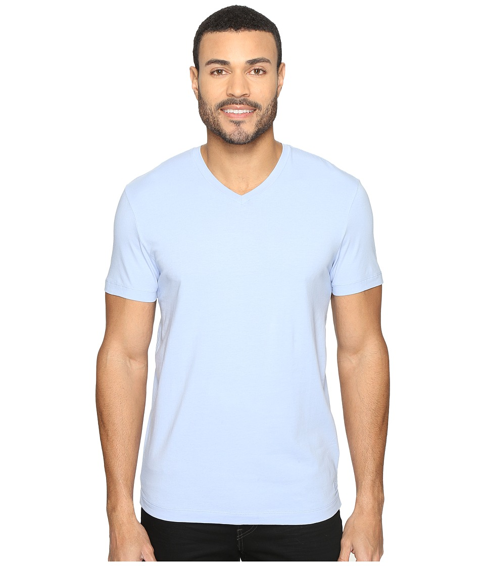 Kenneth Cole Sportswear Short Sleeve V-Neck (Blue Heron) Men