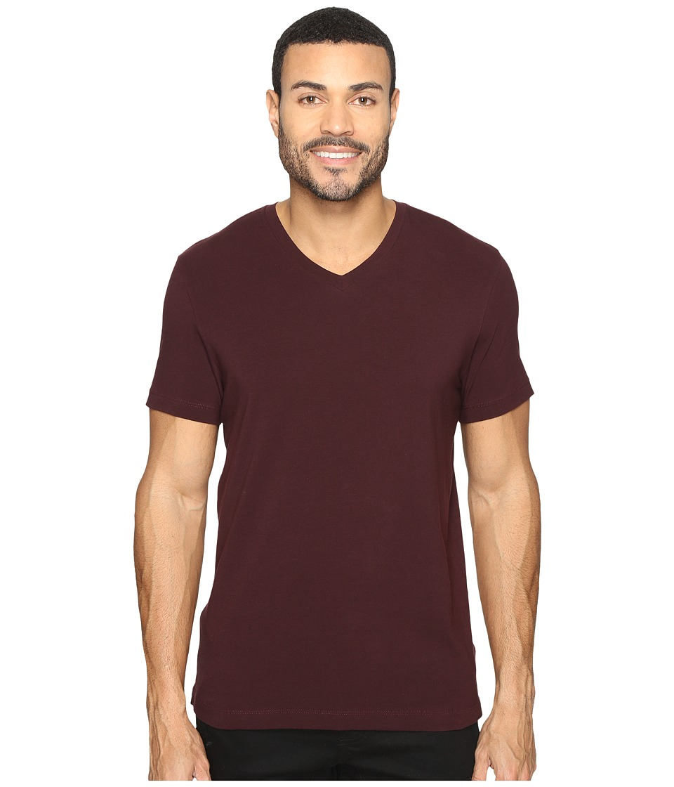 Kenneth Cole Sportswear Short Sleeve V-Neck (Plumberry) Men
