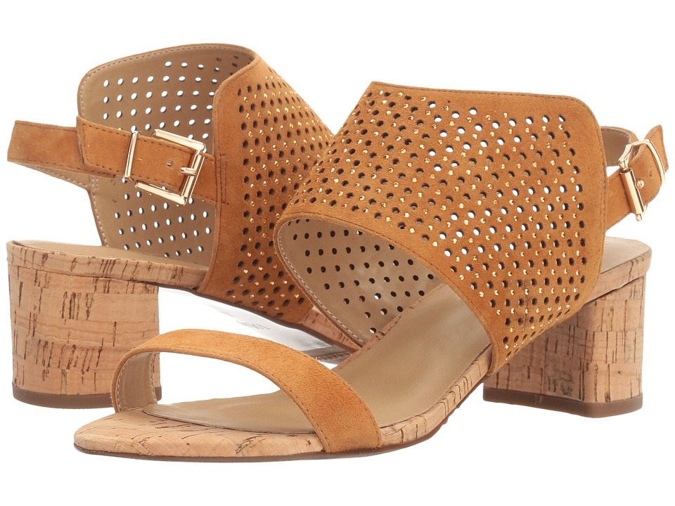 Vaneli - Odele (Cuoio Suede/Natural Cork/Gold Stones) High Heels