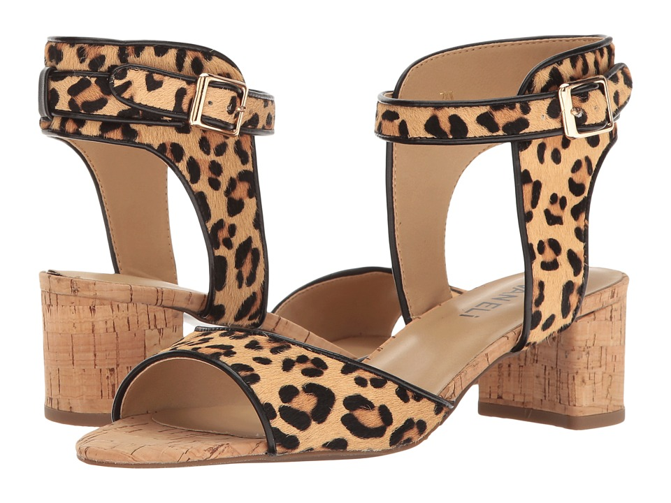 Vaneli - Oasis (Camel Dino Hair/Black Ferns Nappa) High Heels