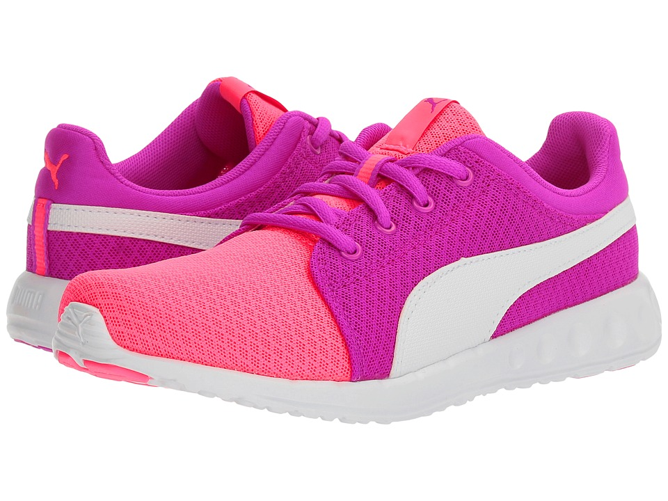Puma Kids Carson Runner 400 Mesh Jr (Big Kid) (Knockout Pink/Puma White) Girls Shoes