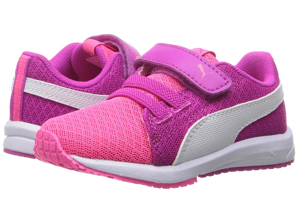 Puma Kids Carson Runner Mesh VE V INF (Toddler) (Knockout Pink/Puma White) Girls Shoes