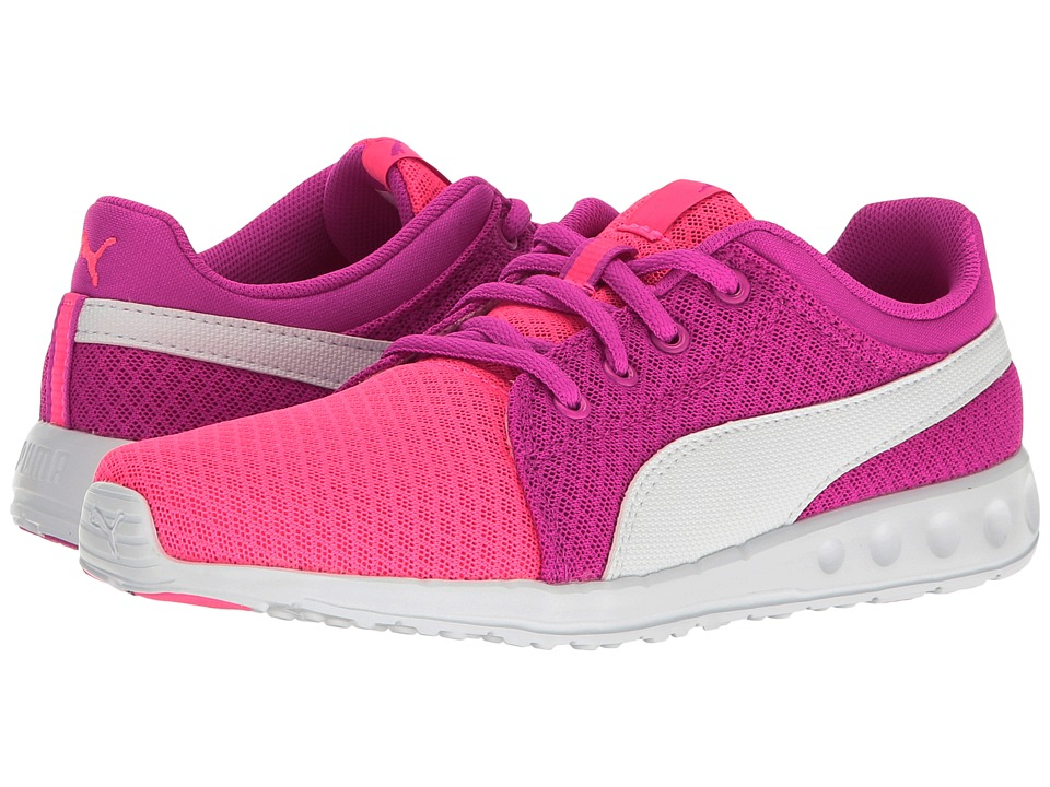 Puma Kids Carson Runner 400 Mesh PS (Little Kid/Big Kid) (Knockout Pink/Puma White) Girls Shoes