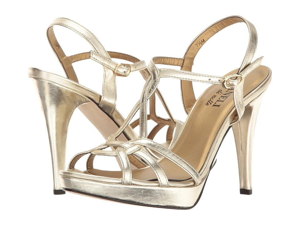 Vaneli - Qamar (Platino Metalllic Nappa/Gold Buckle) High Heels