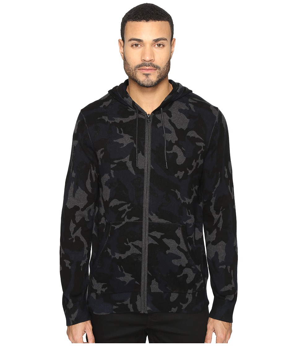 Kenneth Cole Sportswear - Camo Hoodie (Indigo) Men's Sweatshirt