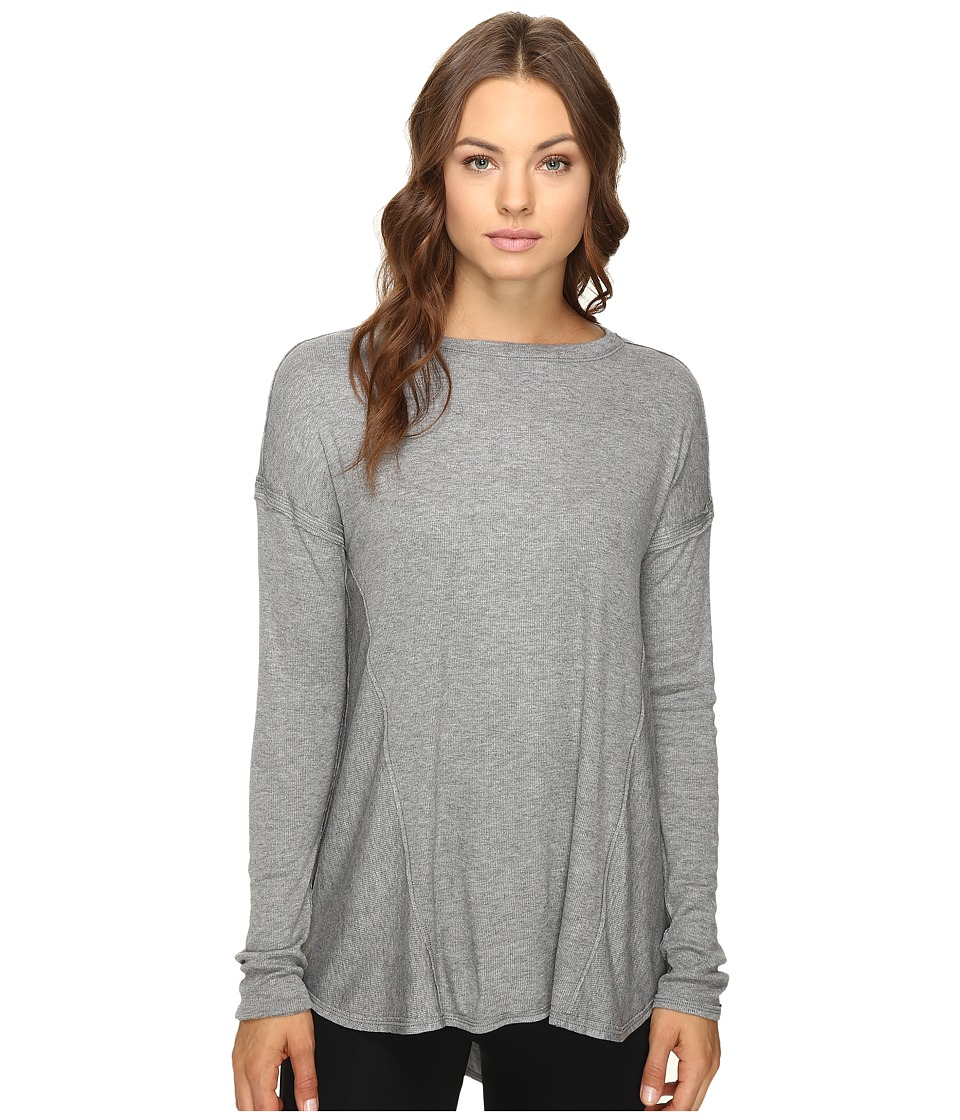 HEATHER - Paneled Swing Top (Light Heather Grey) Women's Clothing