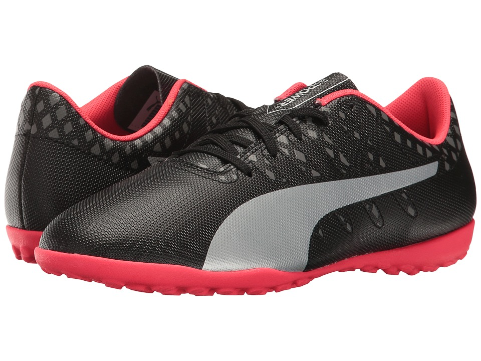 Puma Kids - evoPower Vigor 4 TT Jr (Little Kid/Big Kid) (Puma Black/Puma Silver/Quiet Shade/Bright Plasma) Kids Shoes