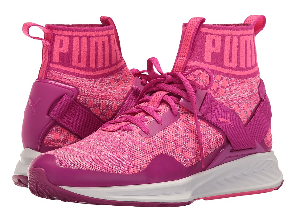 Puma Kids Ignite Evoknit Jr (Big Kid) (Ultra Magenta/Knockout Pink) Girls Shoes