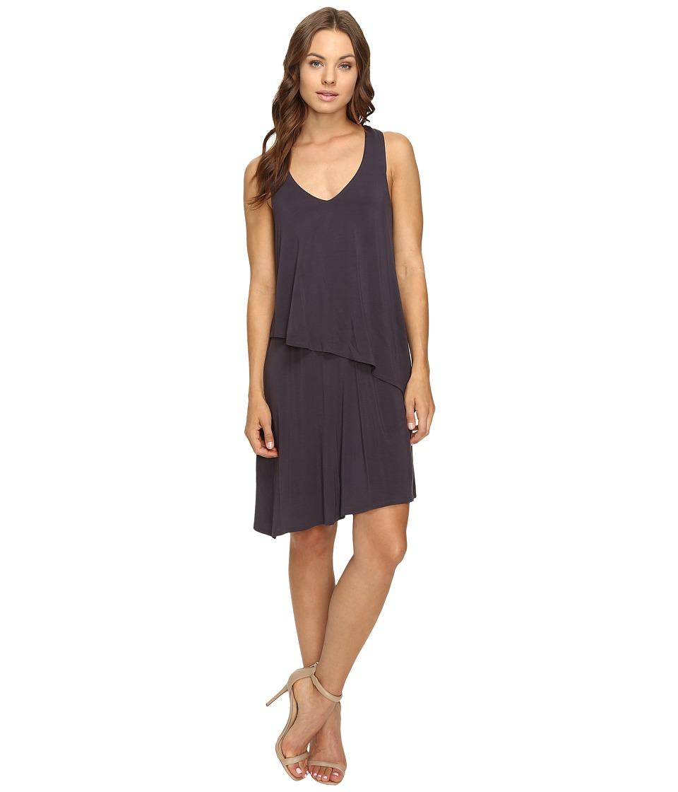 HEATHER - Asymmetric Layered Dress (Licorice) Women's Dress