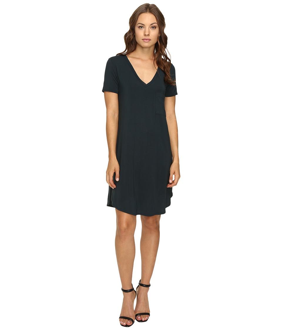 HEATHER - V-Neck Pocket Tee Dress (Amulet) Women's Dress