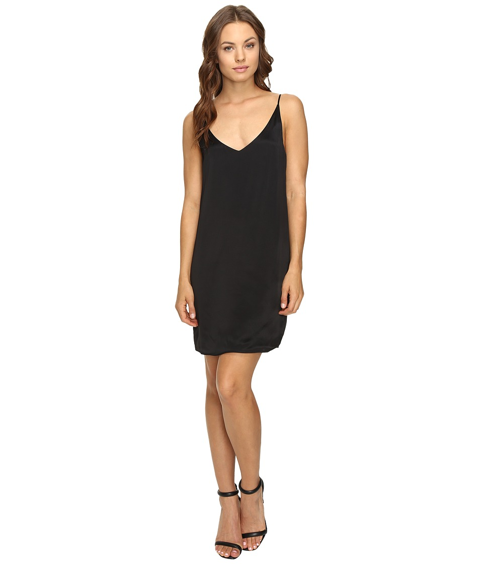 HEATHER - Silk Cami Dress (Black) Women's Dress