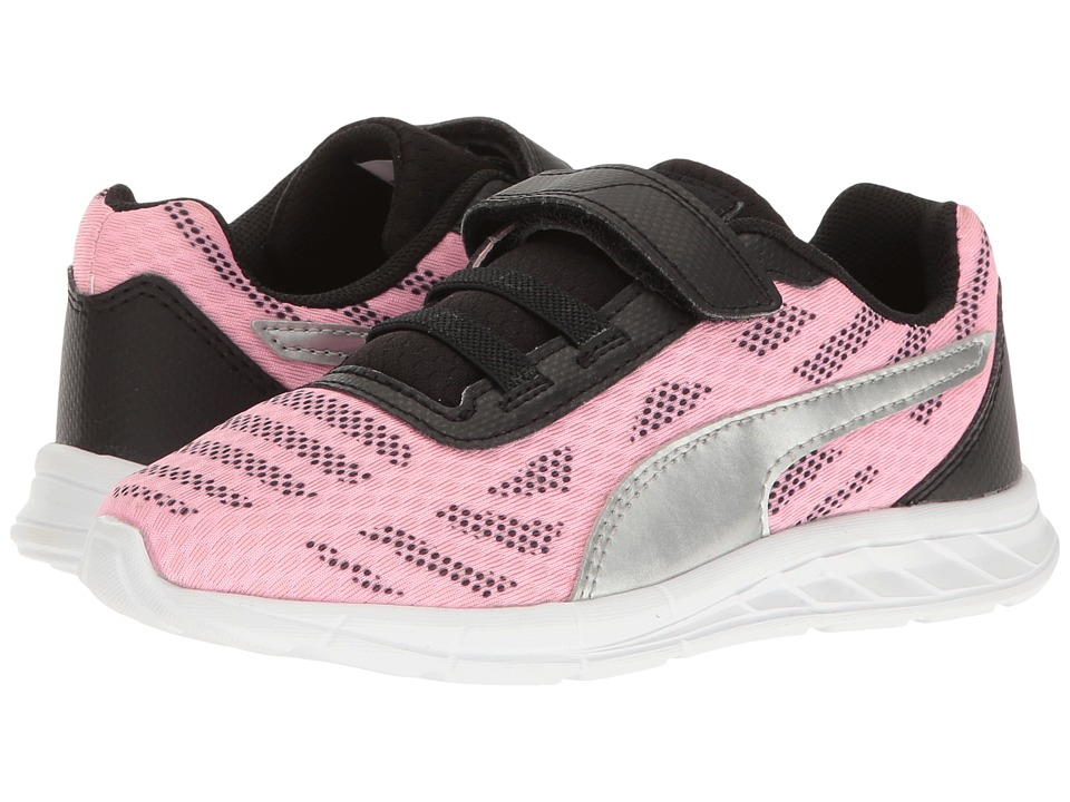 Puma Kids - Meteor V PS (Little Kid/Big Kid) (Soft Fluo Pink/Puma Silver) Girls Shoes