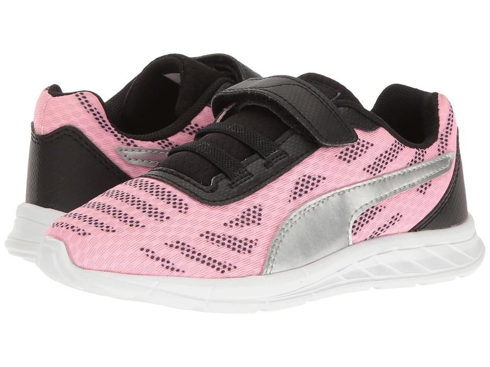Puma Kids - Meteor V PS (Little Kid/Big Kid) (Soft Fluo Pink/Puma Silver) Girls Shoes
