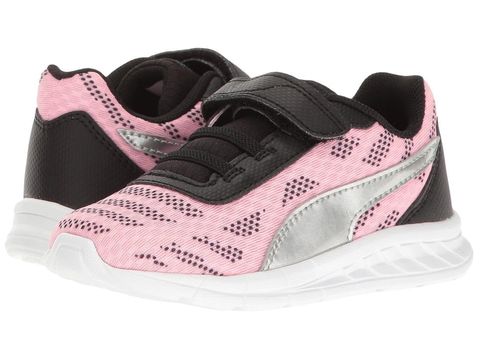Puma Kids - Meteor V INF (Toddler) (Soft Fluo Pink/Puma Silver) Girls Shoes