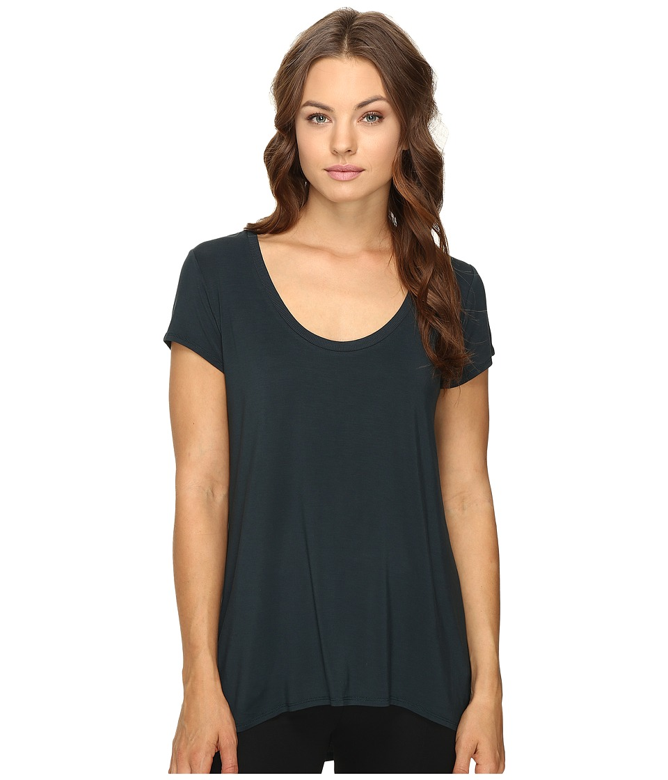 HEATHER - Scoop Neck Tee (Amulet) Women's Short Sleeve Pullover