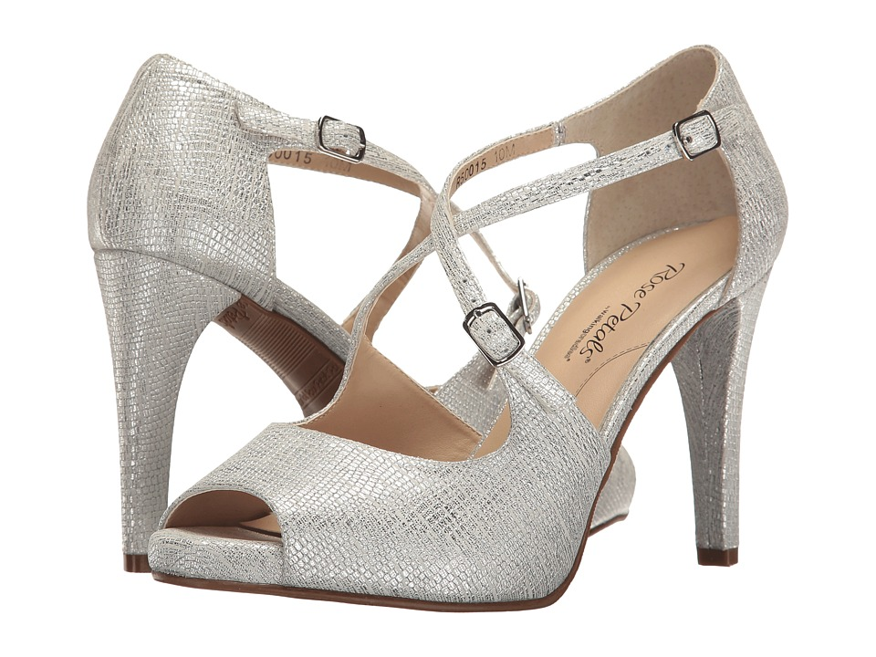 Walking Cradles Lissa (White/Silver Dotted Lizard Print) High Heels