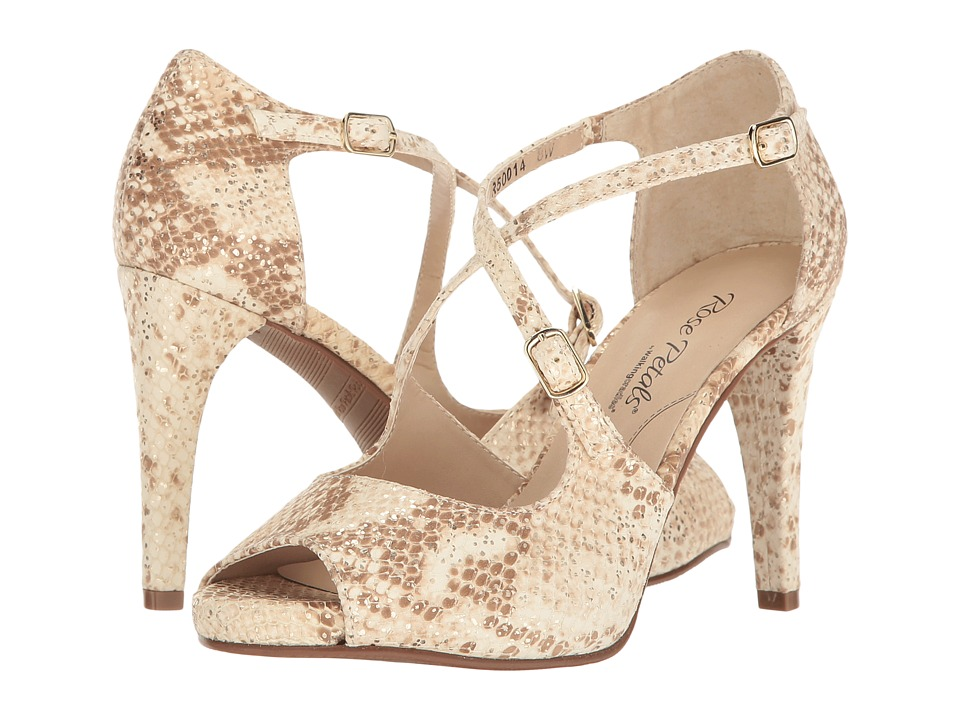 Walking Cradles - Lissa (Cream Gold Flecked Snake Print) High Heels