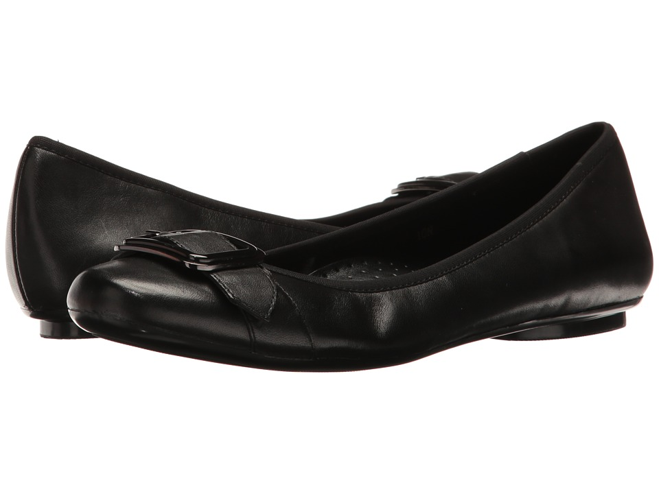 Vaneli - Solana (Black Nappa/Gunmetal/Black Buckle) Women's Slip on Shoes