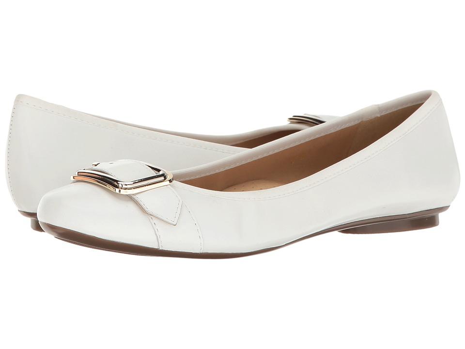 Vaneli - Solana (White Nappa/Gold/Silver Buckle) Women's Slip on Shoes
