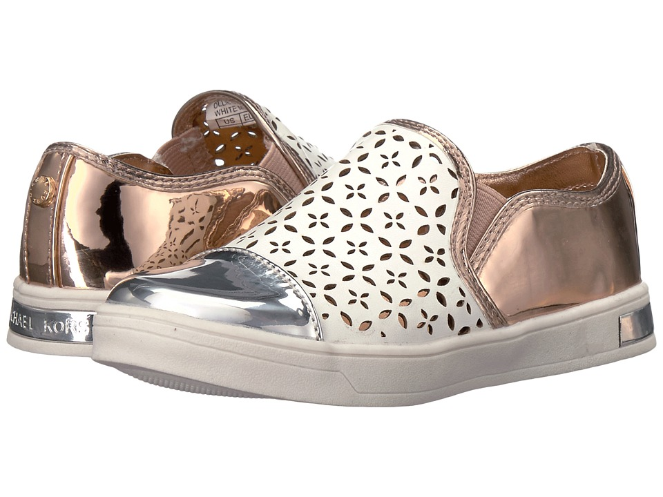 MICHAEL Michael Kors Kids - Ollie Gwen (Toddler) (White Multi) Girl's Shoes