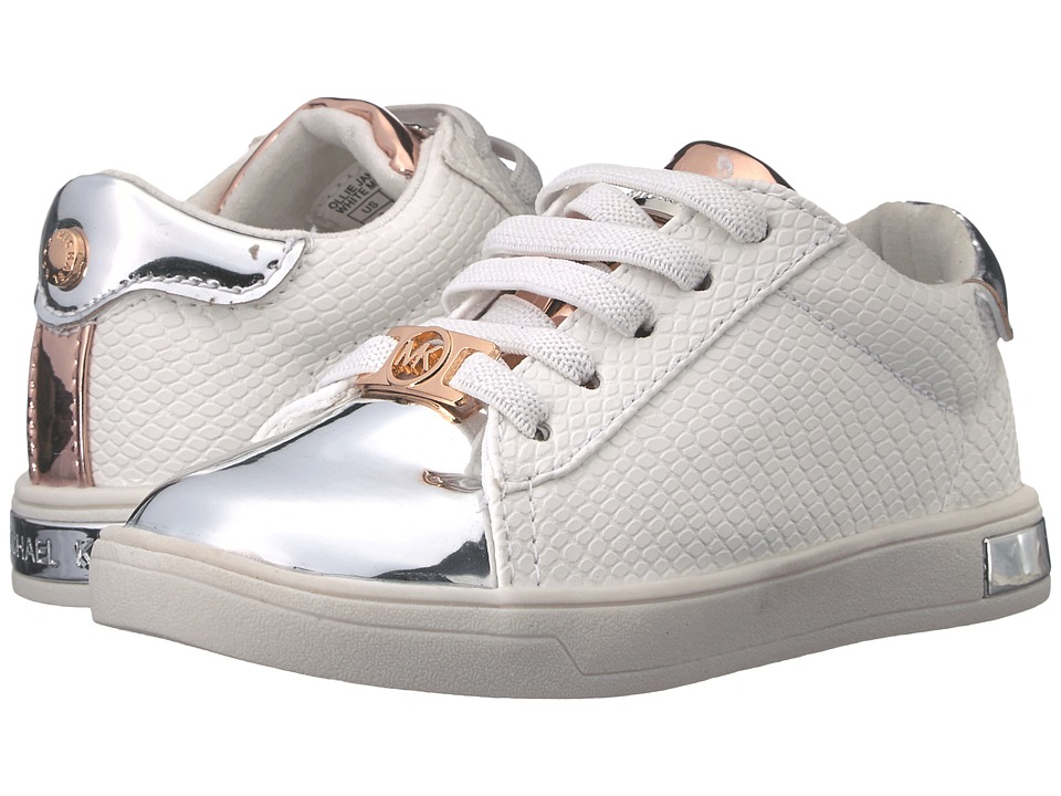 MICHAEL Michael Kors Kids - Ollie Janna (Toddler) (White Multi Metallic) Girl's Shoes