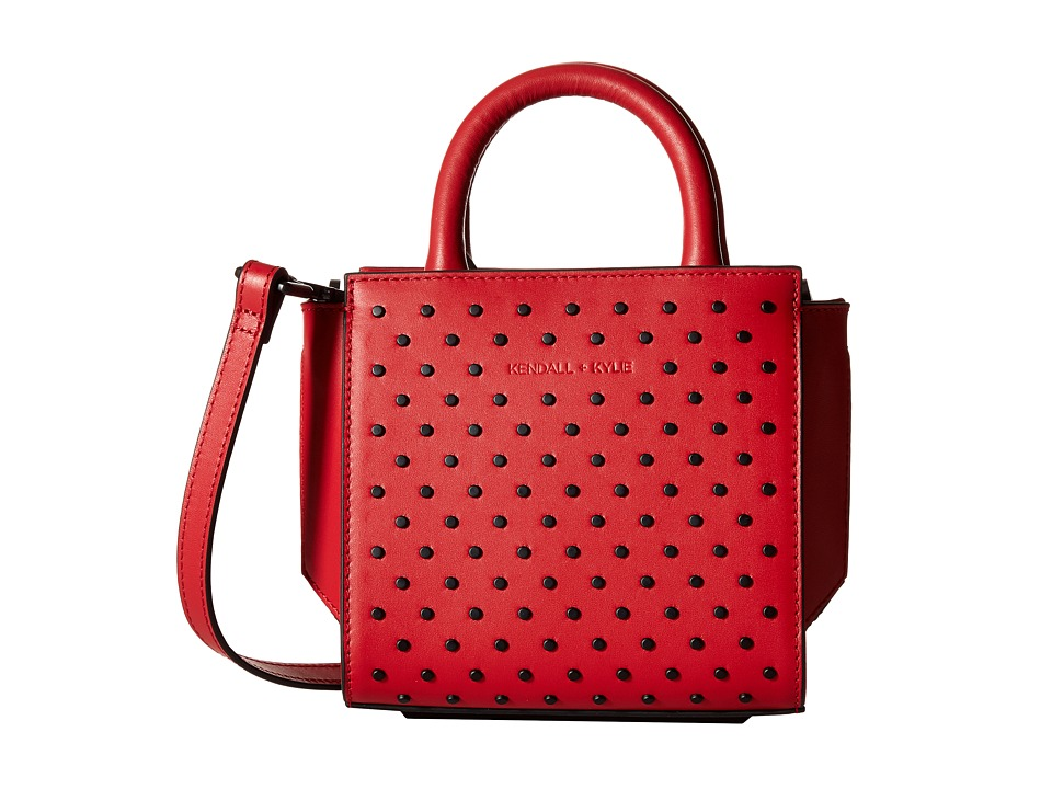 KENDALL + KYLIE - Brook Nano Studded Mini Satchel (Ruby Red) Satchel Handbags
