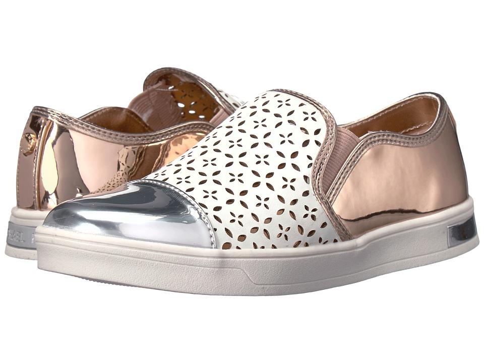 MICHAEL Michael Kors Kids - Ollie Gwen (Little Kid/Big Kid) (White Multi) Girl's Shoes