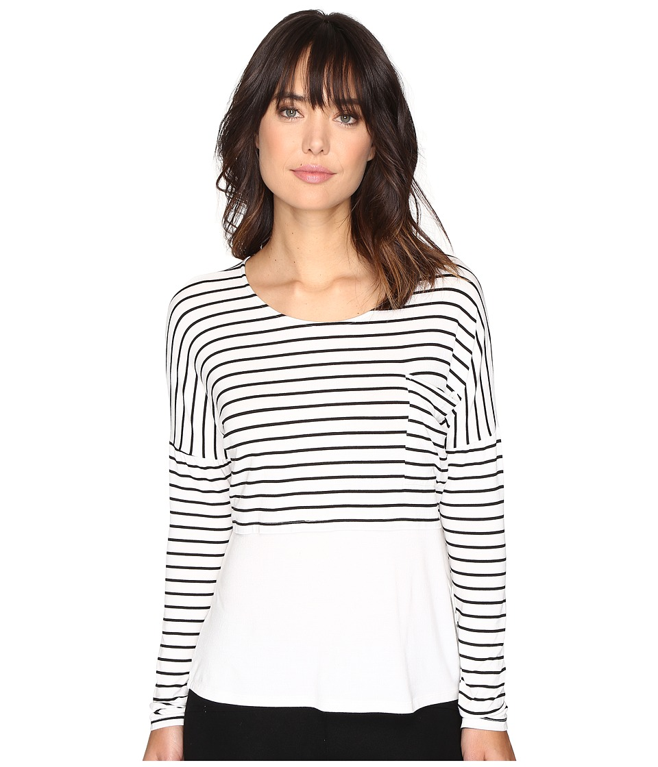 Culture Phit - Maylen Long Sleeve Top with Pocket (Ivory) Women's Clothing