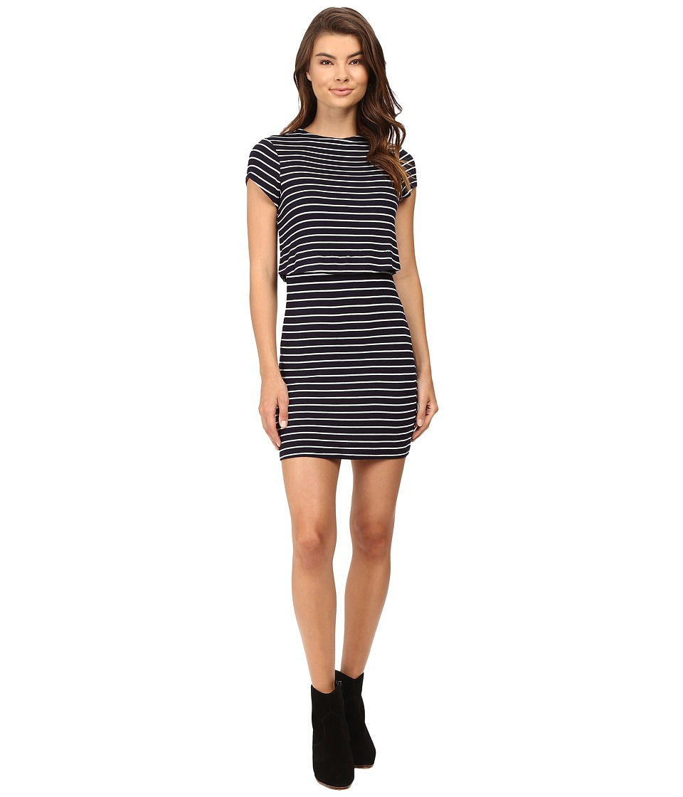 Culture Phit Lannette Short Sleeve Dress (Navy) Women