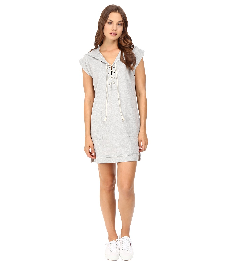 Culture Phit Kallea Lace-Up Hoodie Dress (Heather Grey) Women