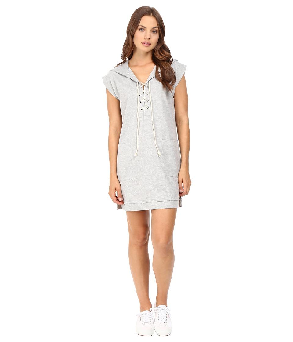 Culture Phit Kallea Lace-Up Hoodie Dress (Heather Grey) Women