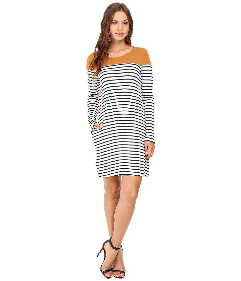 Culture Phit - Jamari Color Block Long Sleeve Dress (Marigold/White) Women's Dress