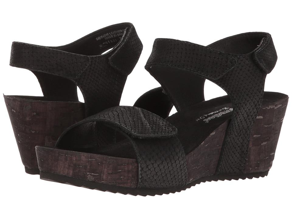 Walking Cradles - Theta (Black Matte Snake Print) Women's Sandals