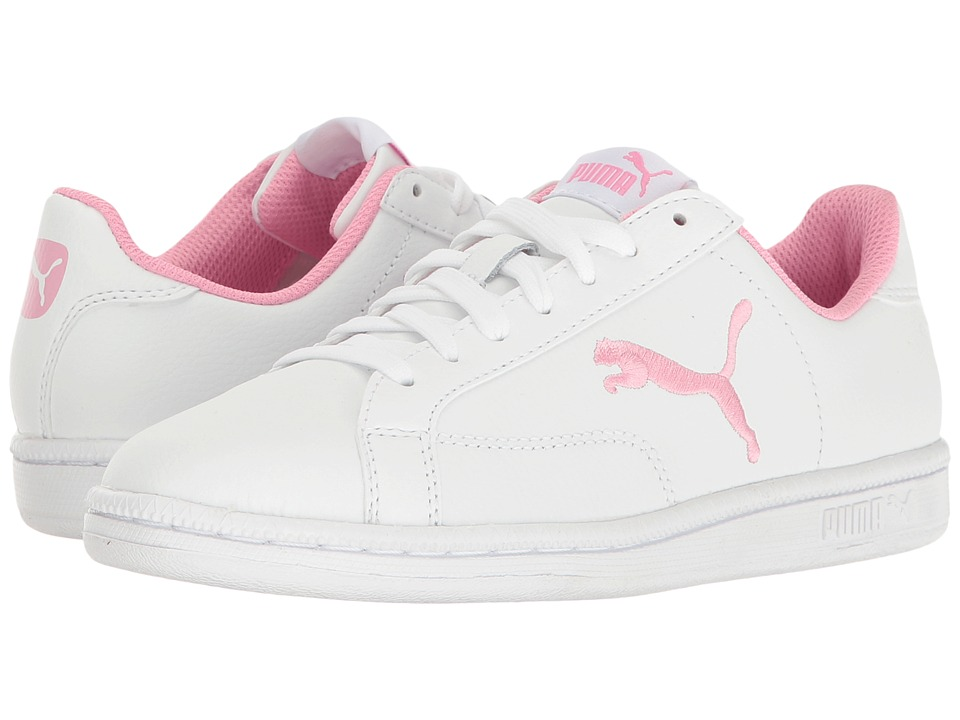 Puma Kids - Smash Cat L Jr (Big Kid) (Puma White/Prism Pink) Girls Shoes