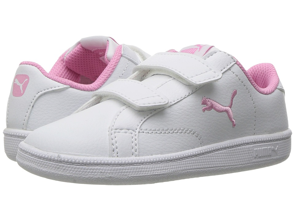 Puma Kids - Smash Cat L V INF (Toddler) (Puma White/Prism Pink) Girls Shoes