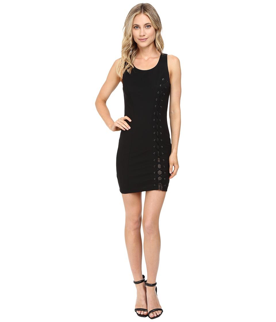 Brigitte Bailey - Brania Lace-Up Bodycon Dress (Black) Women's Dress