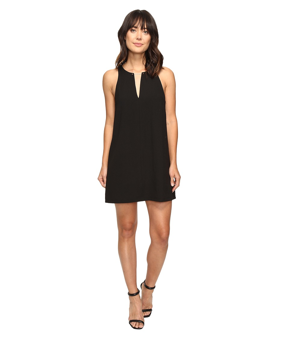 Brigitte Bailey - Davetta Sleeveless Dress with Gold Bar (Black) Women's Dress