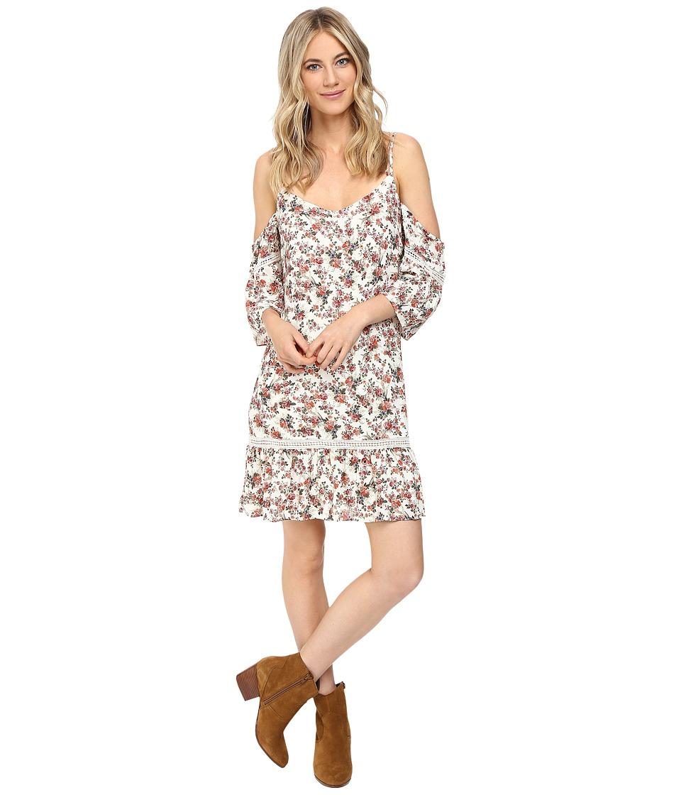 Brigitte Bailey - Camela Cold Shoulder Dress with Back Detail (Ivory/Rust) Women's Dress