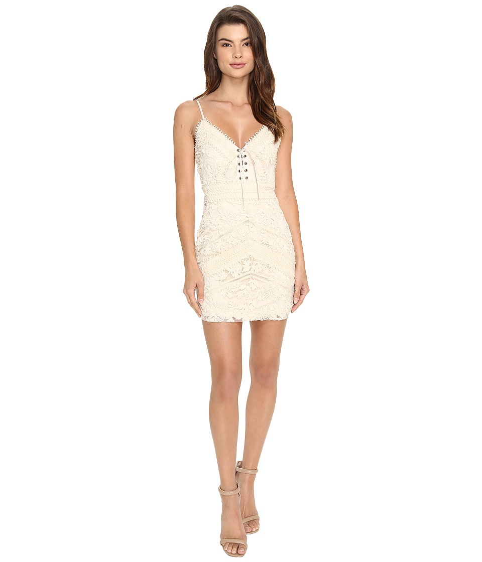 Brigitte Bailey Bisette Lace-Up Embroidered Dress (Natural) Women