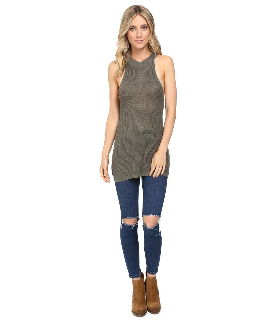 Brigitte Bailey Dendria High Neck Sweater Top (Olive) Women