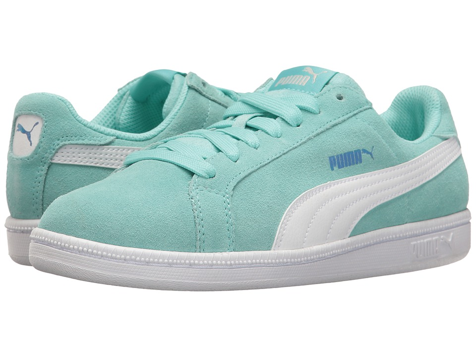 Puma Kids - Smash Fun Suede (Big Kid) (Aruba Blue/Puma White) Girls Shoes