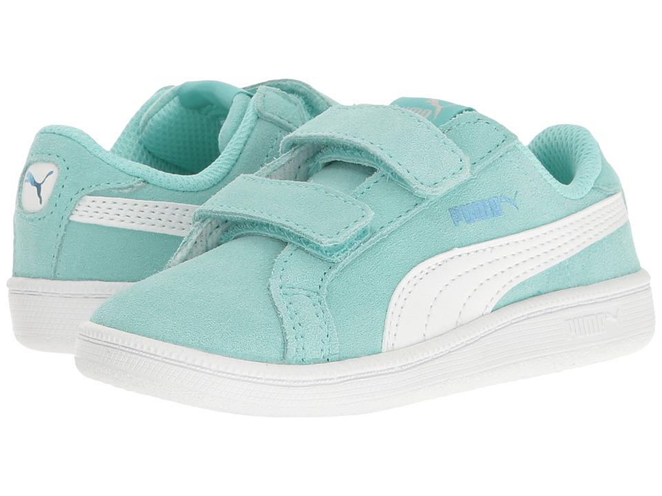 Puma Kids - Smash Fun Suede (Toddler) (Aruba Blue/Puma White) Girls Shoes