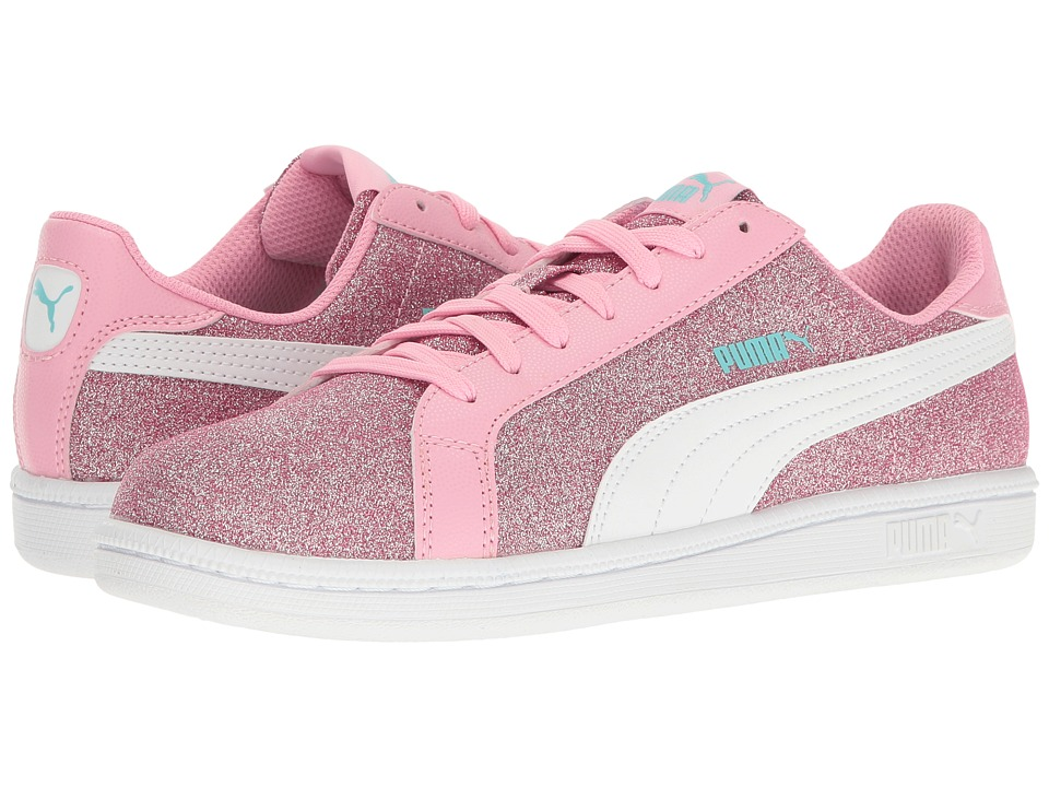 Puma Kids - Smash Glitz Glamm Jr (Big Kid) (Beetroot Purple/Puma White) Girls Shoes