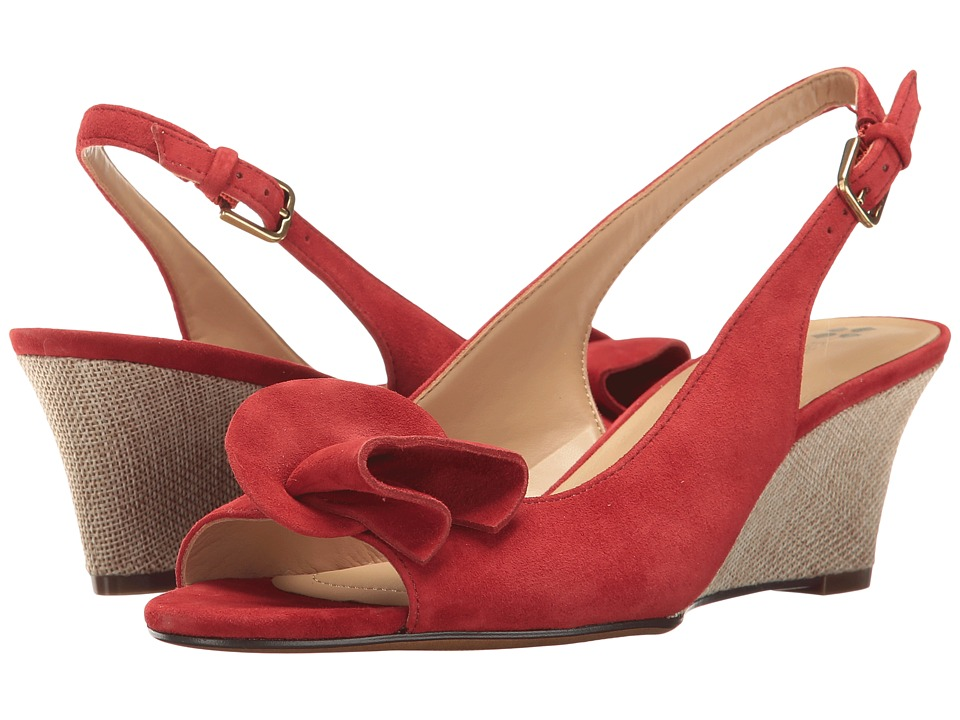 Naturalizer - Tinna (Red Suede) Women's Wedge Shoes