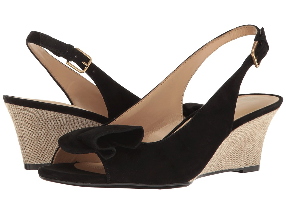 Naturalizer - Tinna (Black Suede) Women's Wedge Shoes