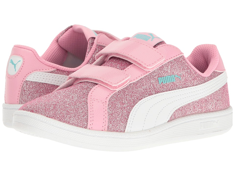 Puma Kids - Smash Glitz Glamm V PS (Little Kid/Big Kid) (Beetroot Purple/Puma White) Girls Shoes