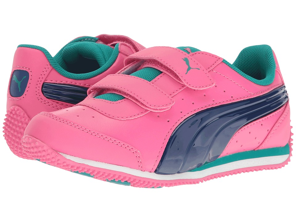 Puma Kids - Speed Light Up Power V PS (Little Kid/Big Kid) (Shocking Pink/True Blue) Girls Shoes