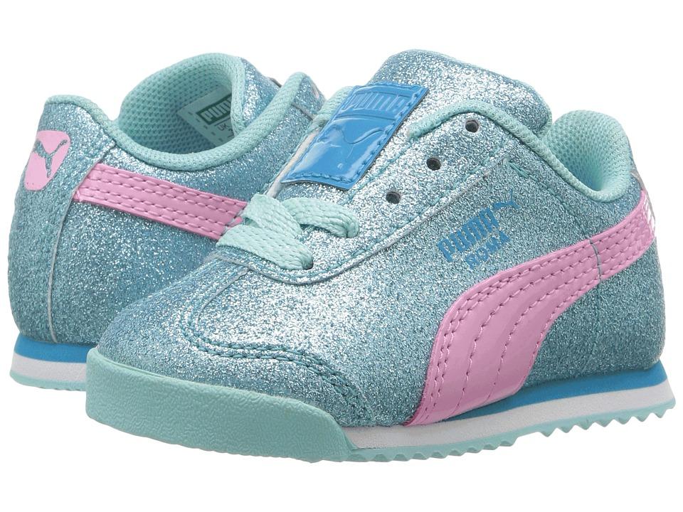 Puma Kids - Roma Glitz Glamm INF (Toddler) (Aruba Blue/Prism Pink) Girls Shoes