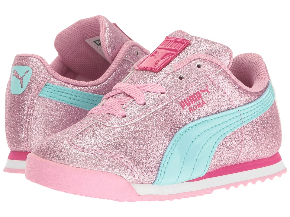 Puma Kids - Roma Glitz Glamm INF (Toddler) (Prism Pink/Aruba Blue) Girls Shoes