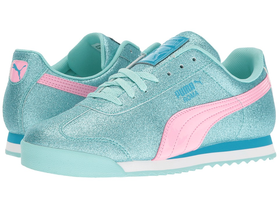 Puma Kids - Roma Glitz Glamm Jr (Big Kid) (Aruba Blue/Prism Pink) Girls Shoes